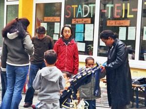 Flohmarkt vor dem Nachbarschaftstreff